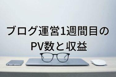 【運営報告】大学生ブログ運営1週間目のPV数と収益