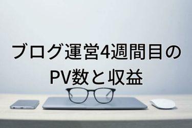 【運営報告】大学生ブログ運営4週間目のPV数と収益