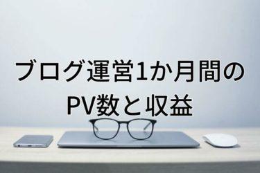 【運営報告】大学生ブログ運営1ヵ月間のPV数と収益